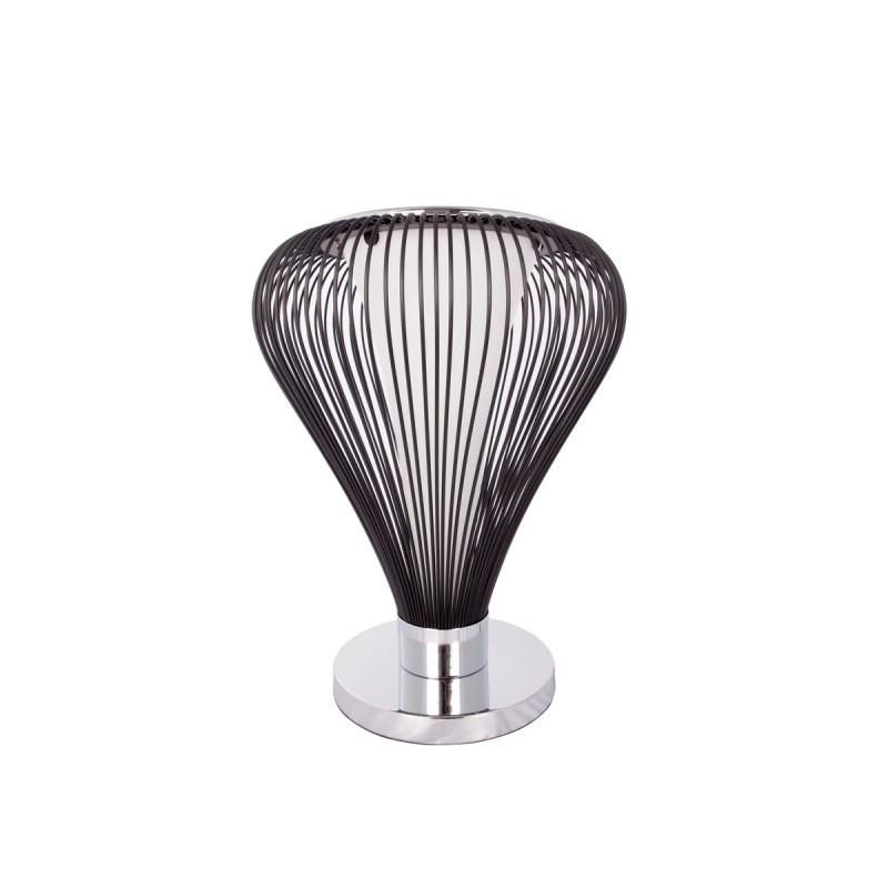 Lampe de table design en métal H 45 cm Ø 34 cm TIFFANY (noir)