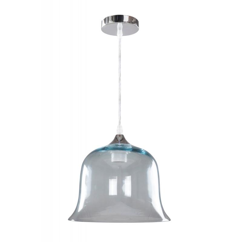 Design hängen H 24,5 cm Ø 24,5 cm Glaslampe KELLY (blau)