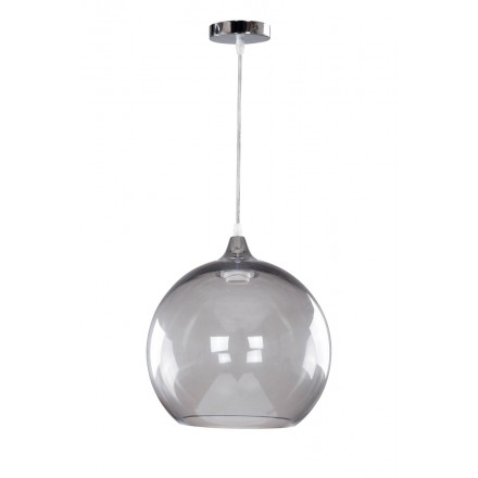 Design hanging H 31 cm Ø 29 cm MILENA (gray) glass lamp