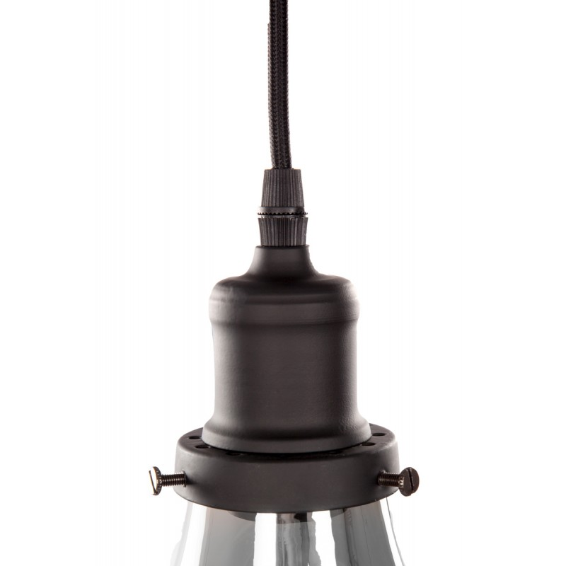 Lampe à suspension industriel 5 globes en verre H 35 cm Ø 45 cm ANGEL (gris) - image 41088