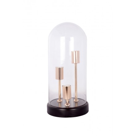 Lampe de table cloche design en verre SYBILLE (transparent)