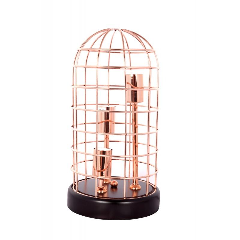 Lampe de table cloche en métal cuivré LEXA (cuivre)