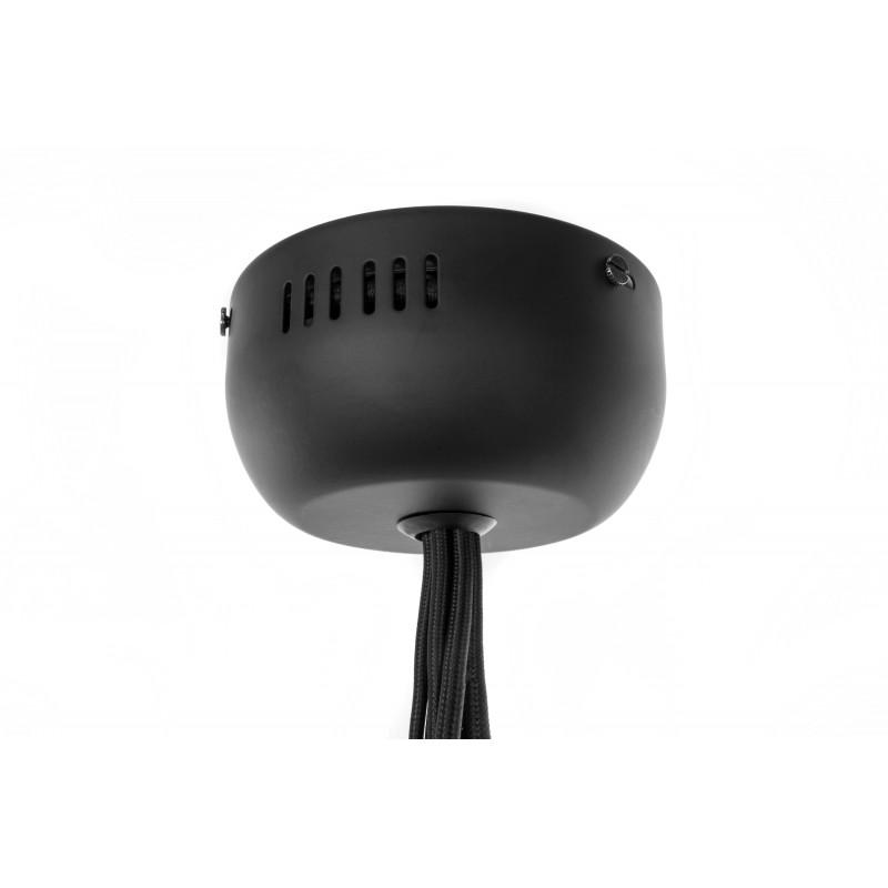 Lampe à suspension industriel 5 globes en verre H 35 cm Ø 45 cm ANGEL (gris) - image 41200
