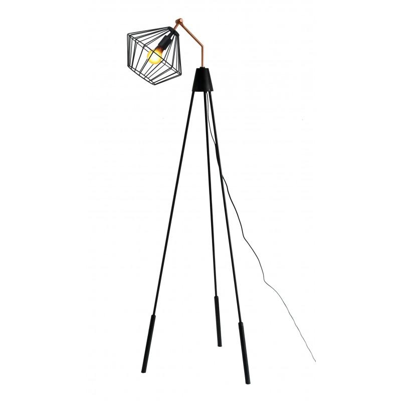 Lampe sur pied industriel ABIGAEL (noir) - image 41225