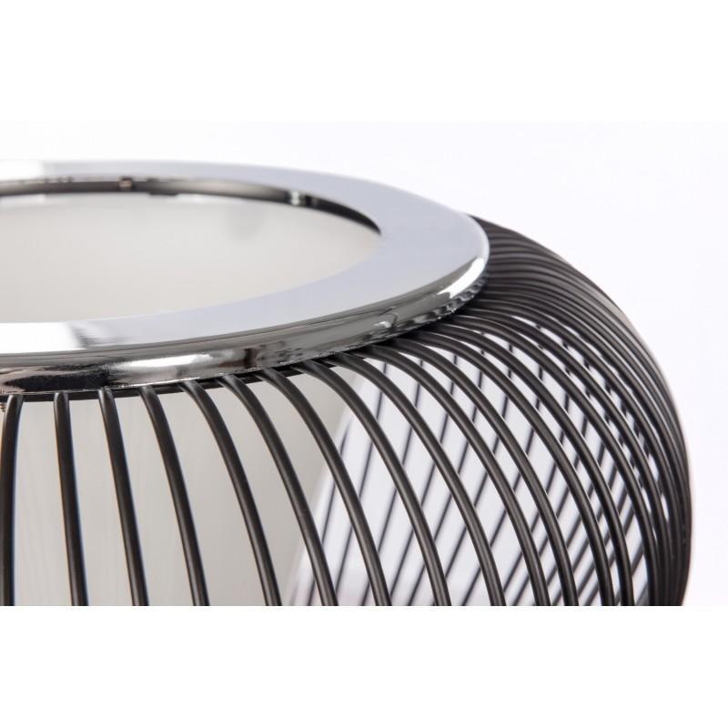 Lampe de table design en métal H 45 cm Ø 34 cm TIFFANY (noir) - image 41251