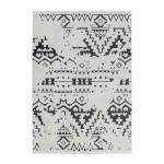 Étnica rectangular AGADIR tejida máquina de la alfombra (blanco negro)