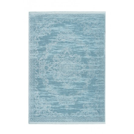 Oriental rug rectangular WHIUCH woven machine (turquoise blue)