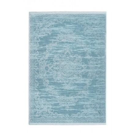 Orientteppich rechteckigen WHIUCH gewebt Maschine (türkis-blau)
