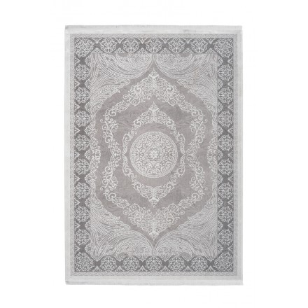 Oriental rug rectangular AJACCIO woven machine (grey)