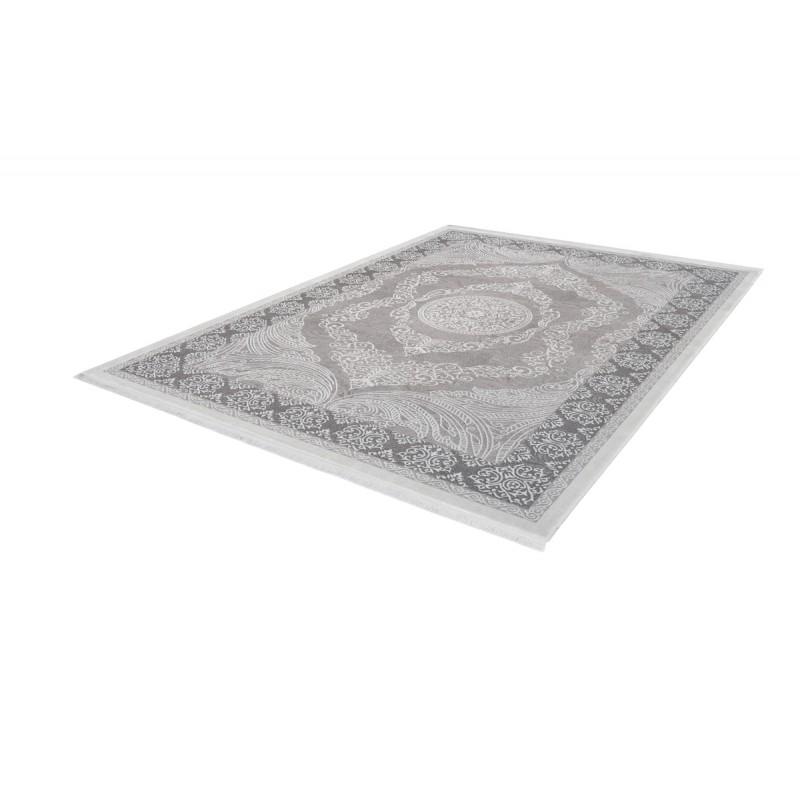 Tapis oriental AJACCIO rectangulaire tissé à la machine (Gris) - image 41325