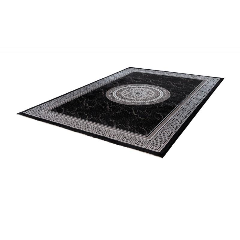 Tapis oriental MEKNES rectangulaire tissé à la machine (Noir) - image 41376