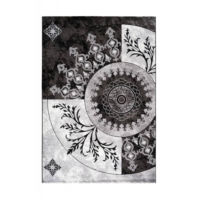 Tapis oriental FES rectangulaire tissé à la machine (Noir) - image 41380
