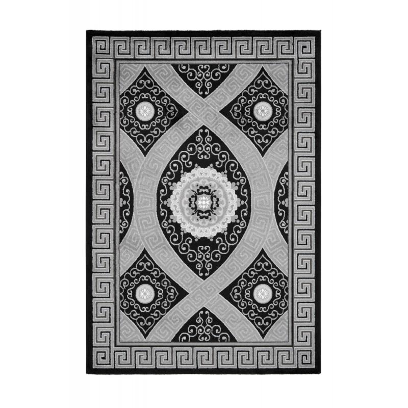 Tapis oriental TETOUAN rectangulaire tissé à la machine (Noir) - image 41394