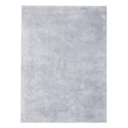 Teppichdesign und zeitgenössischen rechteckigen BALI handgefertigt (Blaugrau)
