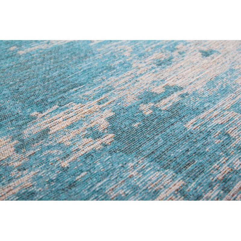 Tapis vintage ROULY rectangulaire tissé à la machine (Bleu turquoise) - image 41417