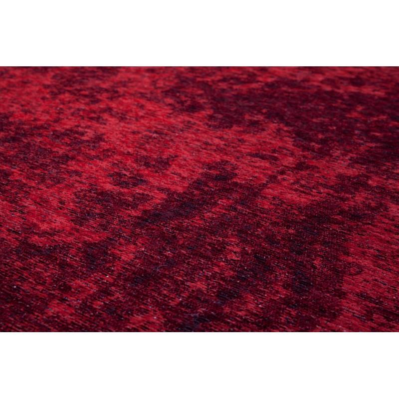 vintage rechteckige rouly teppich gewebt die maschine bordeaux. Black Bedroom Furniture Sets. Home Design Ideas