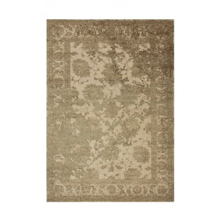 Vintage rectangular PORTLAND carpet woven to the machine (gold)
