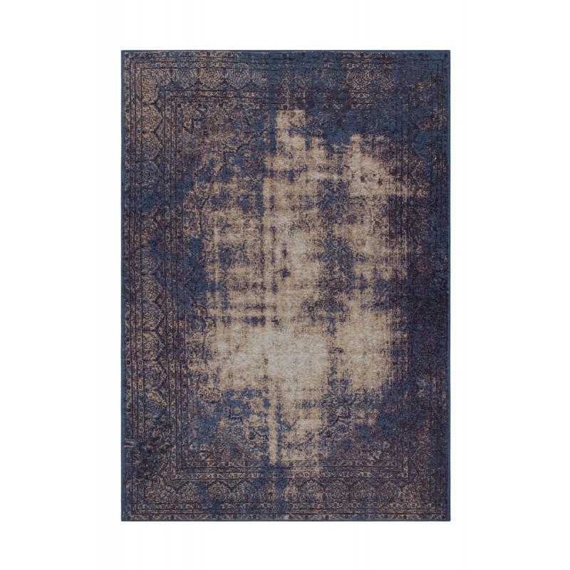 Tapis vintage PORTLAND rectangulaire tissé à la machine (Bleu) - image 41431