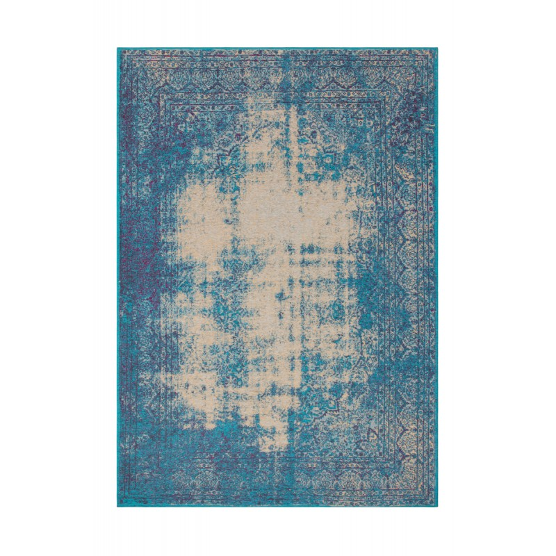 Tapis vintage PORTLAND rectangulaire tissé à la machine (Bleu turquoise) - image 41435