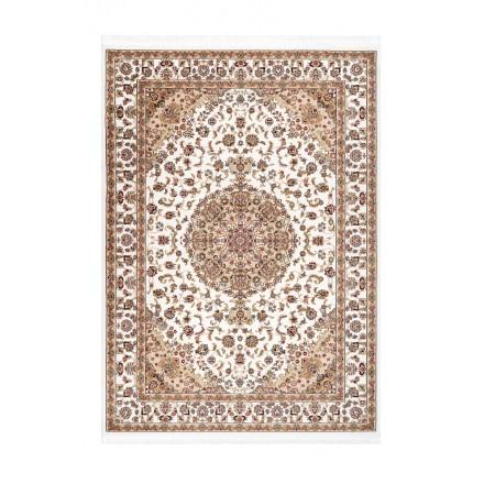Tappeto orientale rettangolare marocchino macchina tessuta (Beige)