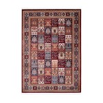 Oriental rug rectangular KENITRA woven machine (Bordeaux)