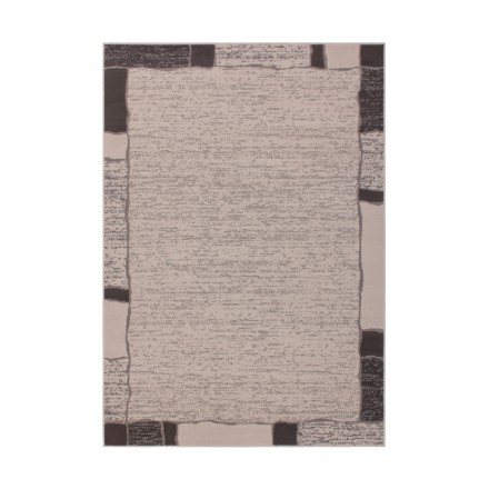 Tapis design et contemporain OKLAHOMA rectangulaire tissé à la machine (Beige )
