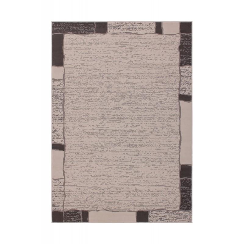 Tapis design et contemporain OKLAHOMA rectangulaire tissé à la machine (Beige ) - image 41471