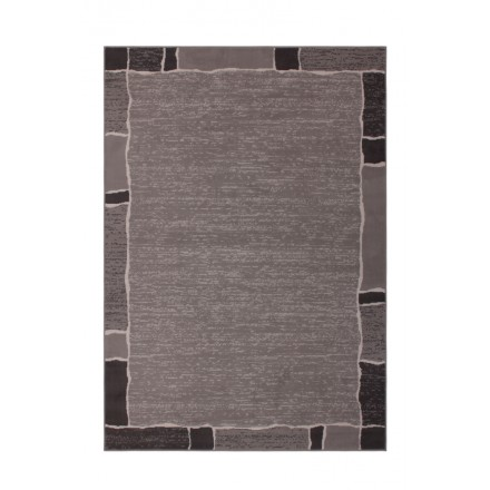 Carpet design and contemporary rectangular OKLAHOMA woven machine (grey)