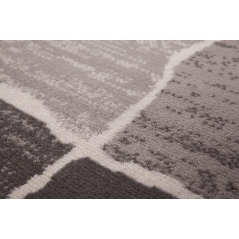 Tapis design et contemporain OKLAHOMA rectangulaire tissé à la machine (Gris) - image 41477