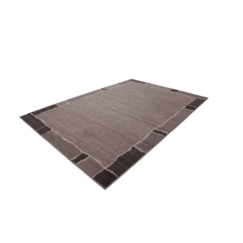 Tapis design et contemporain OKLAHOMA rectangulaire tissé à la machine (Gris) - image 41478