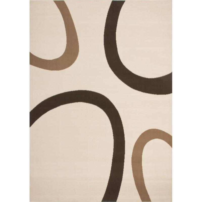 Carpet design and contemporary rectangular DALLAS woven machine (Beige)