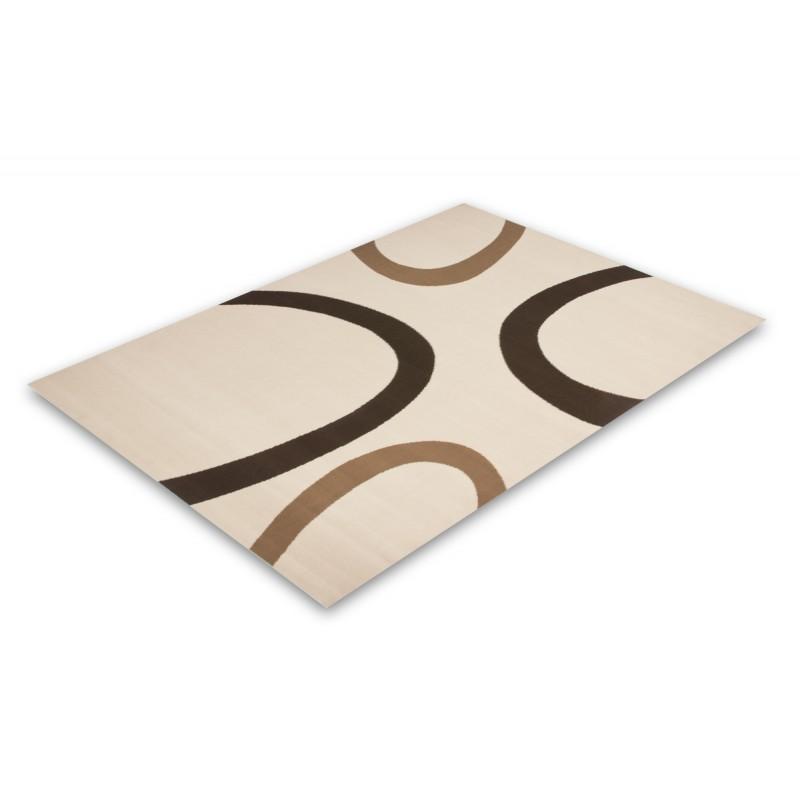 Carpet design and contemporary rectangular DALLAS woven machine (Beige) - image 41482