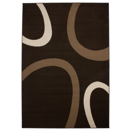 Tapis design et contemporain DALLAS rectangulaire tissé à la machine (Café)