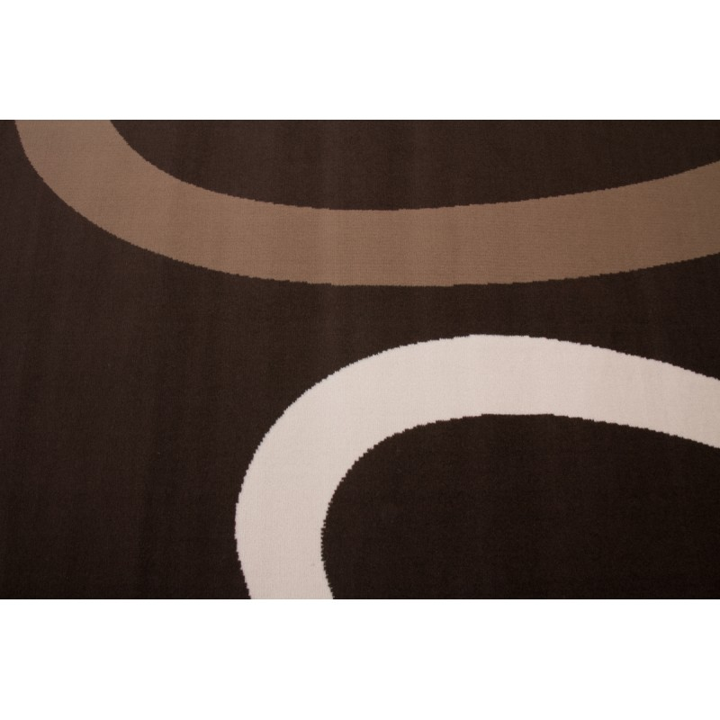 Tapis design et contemporain DALLAS rectangulaire tissé à la machine (Café) - image 41485