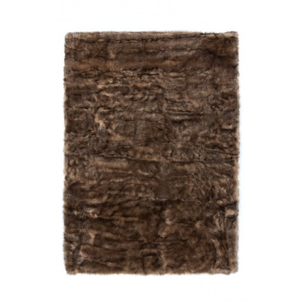 Imitazione di pecore di CHICAGO Tappeto rettangolare trapuntate a mano (marrone)