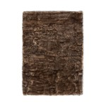 Carpet CHICAGO sheep imitation rectangular tufted by hand (Brown)