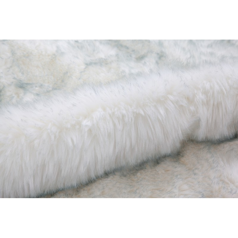 Tapis imitation mouton CHICAGO rectangulaire tufté à la main (Blanc Bleuté) - image 41497