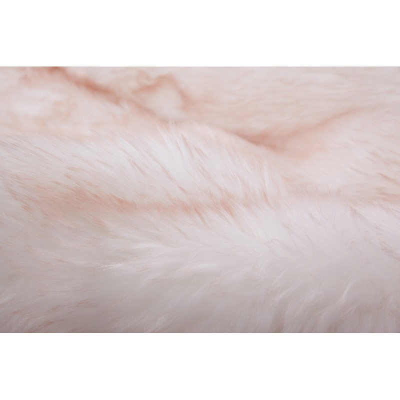 Tapis imitation mouton CHICAGO rectangulaire tufté à la main (Blanc Rosé) - image 41501