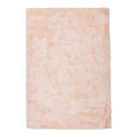 Tapis design et contemporain MIAMI rectangulaire fait main (Blanc Rosé)
