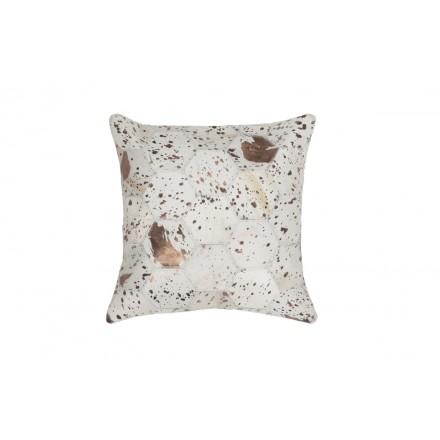 100% pelle DETROIT cuscino quadrato a mano (bronzo Avorio)