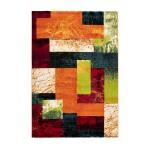 Tapis design et contemporain VIETNAM rectangulaire tissé à la machine (Multicolore)