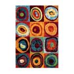 Tapis design et contemporain PHUKET rectangulaire tissé à la machine (Multicolore)