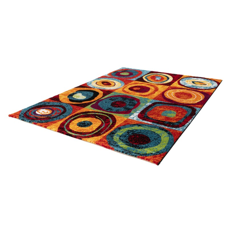 Tapis design et contemporain PHUKET rectangulaire tissé à la machine (Multicolore) - image 41572