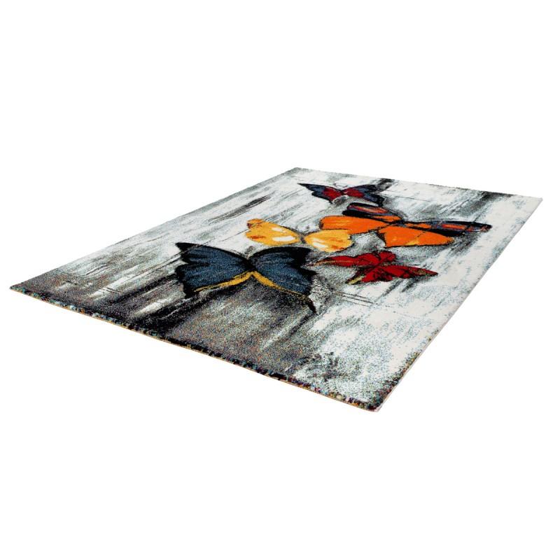 Tapis design et contemporain RAYONG rectangulaire tissé à la machine (Multicolore) - image 41575