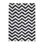 Graphic rug rectangular BUDAPEST made hand (ivory-grey-black)
