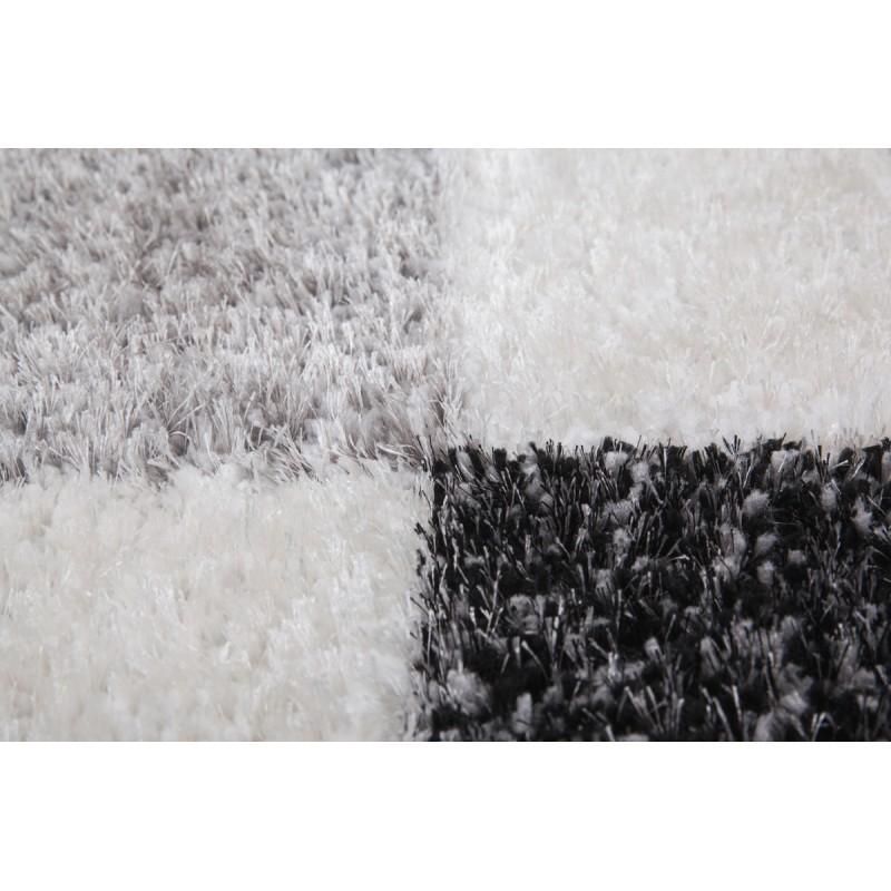 Tapis graphique BOURGAS rectangulaire fait main (Gris Gris anthracite) - image 41600