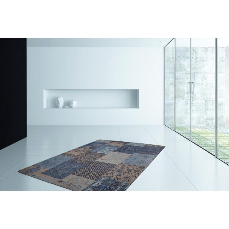 Carpet jaquard made rectangular MARSALA hand (blue) - image 41619