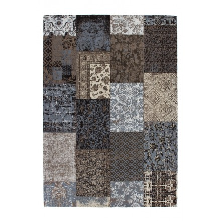 Carpet jaquard made rectangular MARSALA hand (Brown)