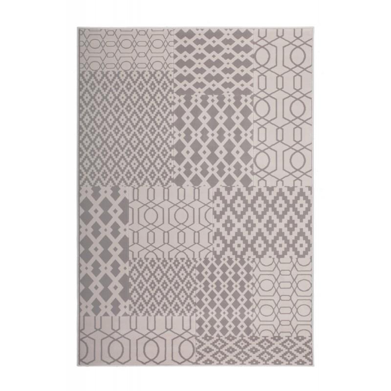Tapis graphique NAXOS rectangulaire tissé à la machine (Taupe Beige) - image 41650