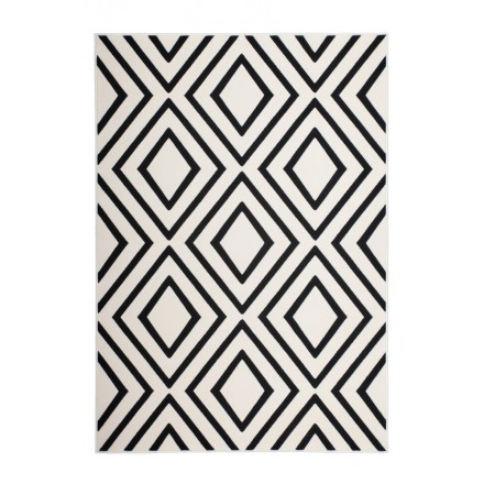 Rectangular AUGUSTA graphic rugs woven by machine (black ivory)
